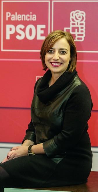 Miriam Andrés, en la sede del Partido Socialista